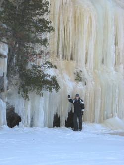 at the waterfalls