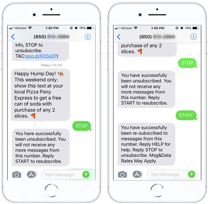 How to Opt-Out from Text Messages