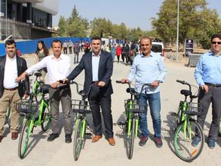 """Fırat Üniversitesi paylaşımlı bisiklete """"evet"""" dedi"""