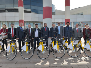Türkiye'nin İlk 4. Nesil Bisiklet Paylaşım Projesi KMÜ'de