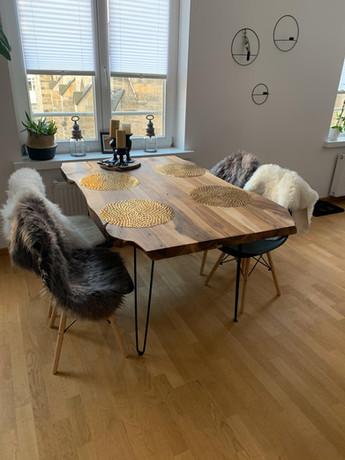 Nussbaum Tischplatte
