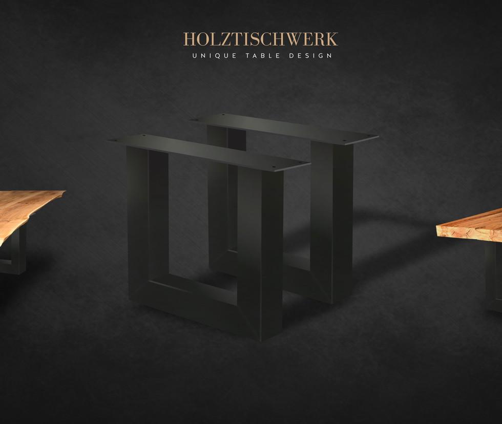Holztischwerk U Profil Tischgestelle