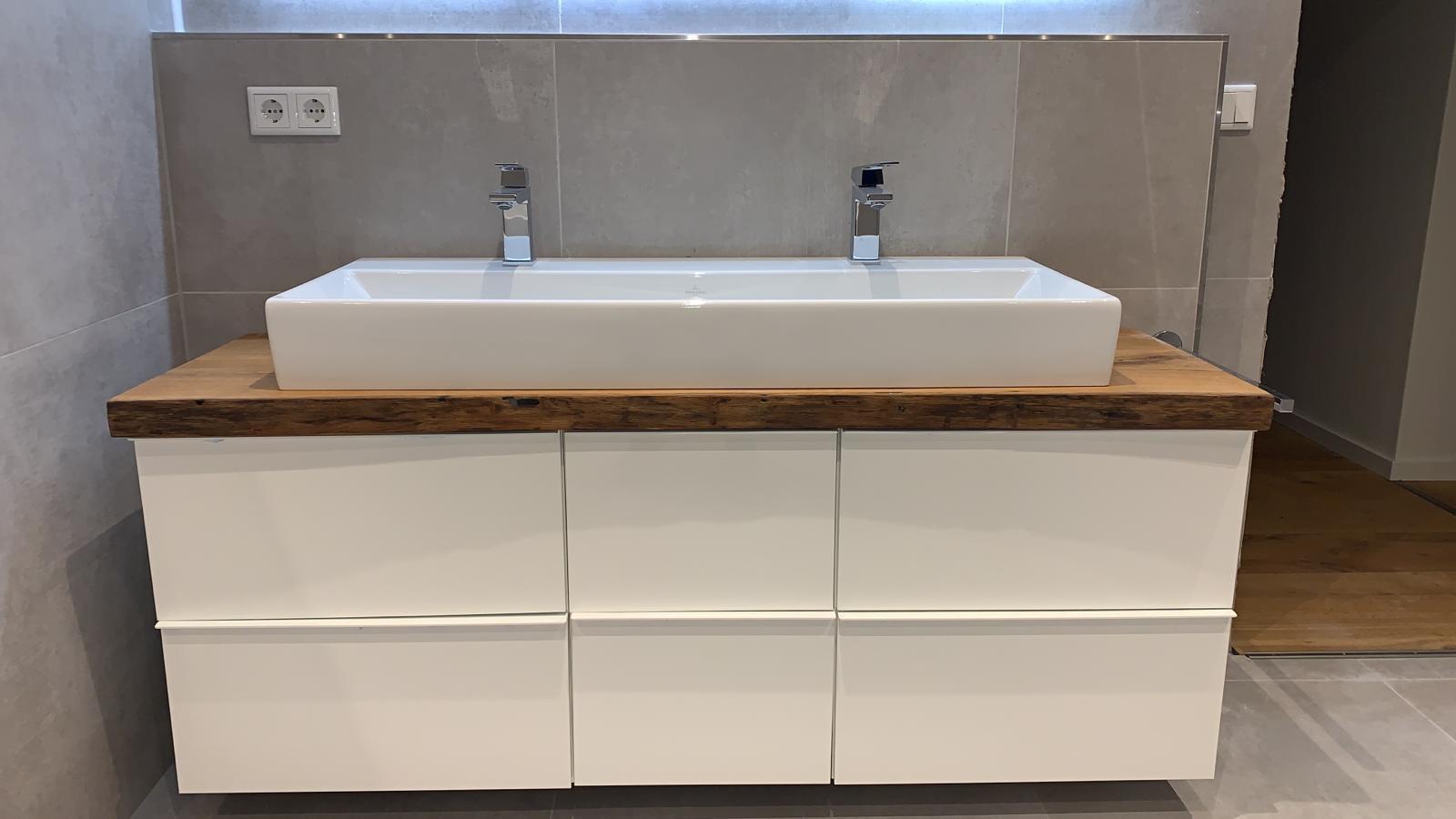 Holztischwerk Waschtischplatte
