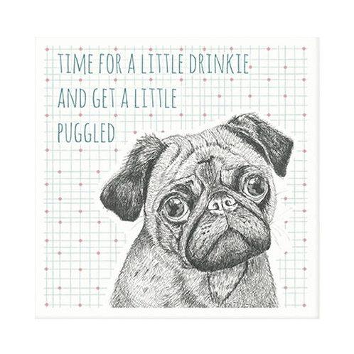 East of India Animal Coaster - Pug