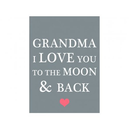 Grandma Moon & Back Magnet