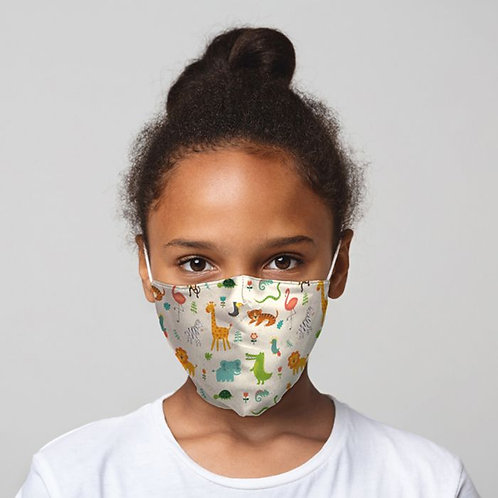Kids Face Covering - Zoo Animals