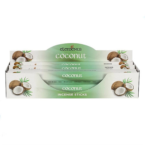 Elements Coconut Incense - Pack of 6