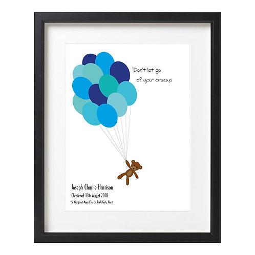 Word Art - Teddy Balloons
