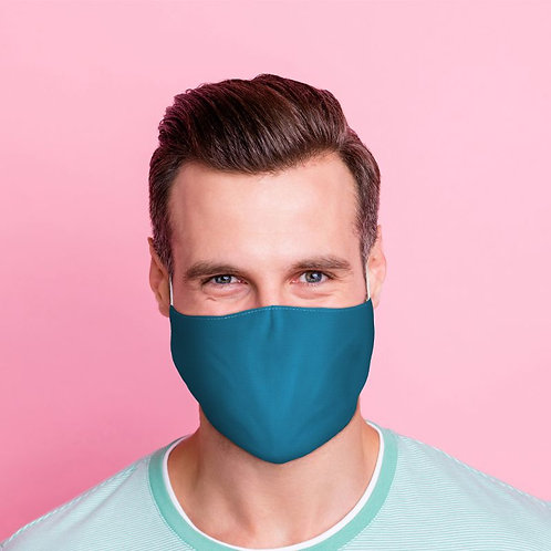 Adult Face Covering - Plain Blue