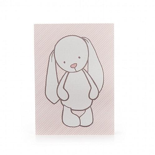 Bashful Bunny Pink Stripes A6 Note Book