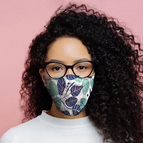 Adult Face Covering - Blue Leaf
