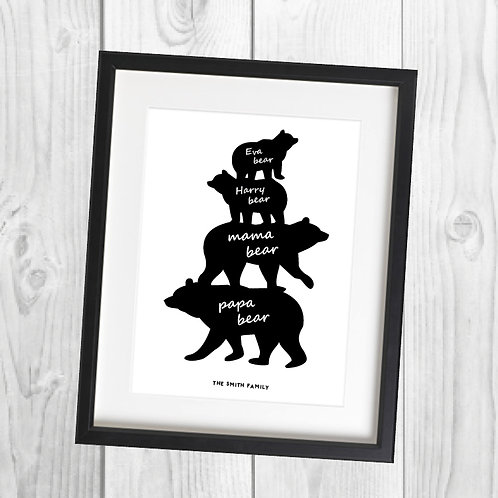 Word Art - Bear Stack