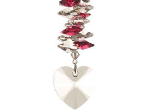 Medium Ruby Cascade Heart