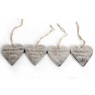 Embossed Metal Heart