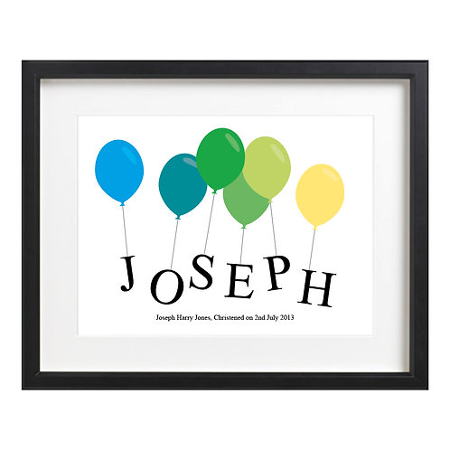 Word Art - Balloon Name