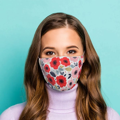 Adult Face Covering - Poppy