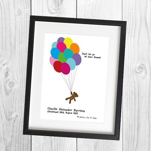 Word Art - Teddy Balloons