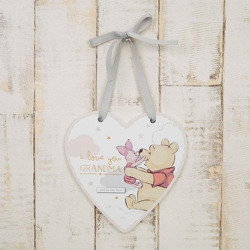 Disney Heart Pooh Piglet Grandma