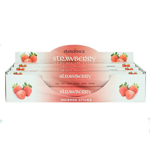 Elements Strawberry Incense - Pack of 6