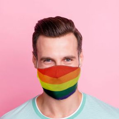 Adult Face Covering - Rainbow