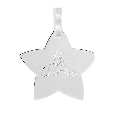 Katie Loxton Silver Star - My First Christmas