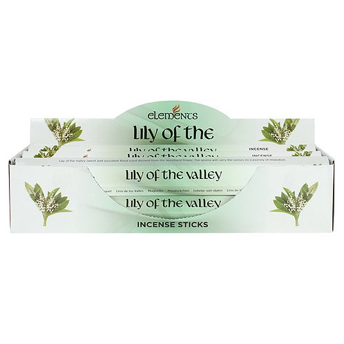 Elements Lily of the Valley Incense - Pack of 6