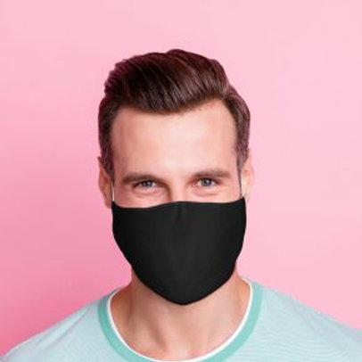 Adult Face Covering - Plain Black