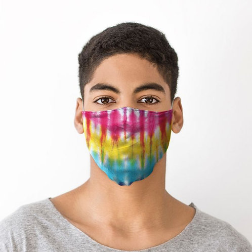Adult Face Covering - Rainbow Tie Dye