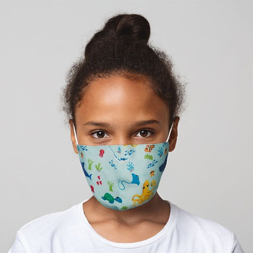 Kids Face Covering - Sea Life