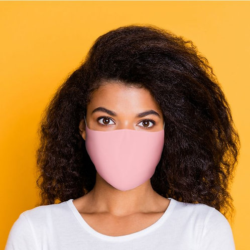 Adult Face Covering - Plain Peach