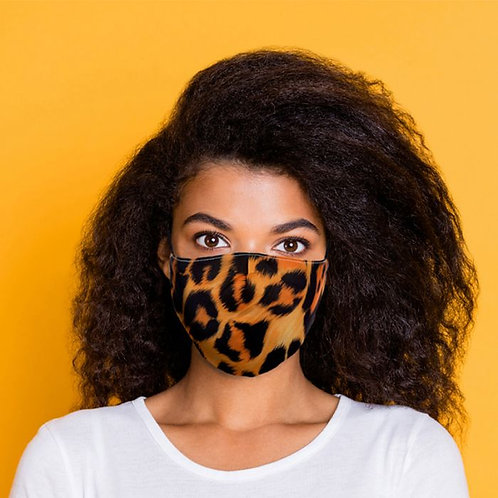 Adult Face Covering - Leopard Print