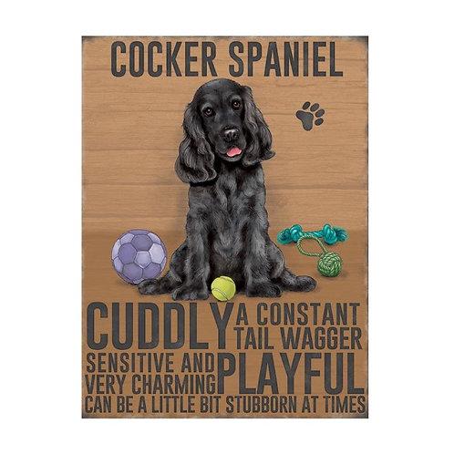 Dog Breed Magnet - Black Cocker Spaniel