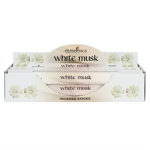Elements White Musk Incense - Pack of 6