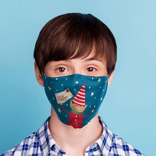 Kids Face Covering - Christmas Elfies