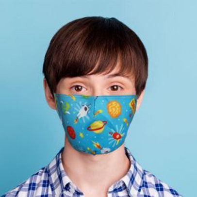 Kids Face Covering - Space