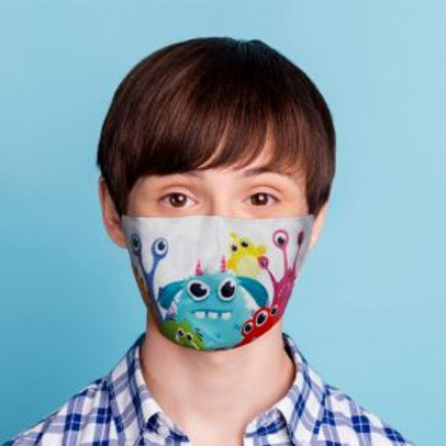 Kids Face Covering - Monsters
