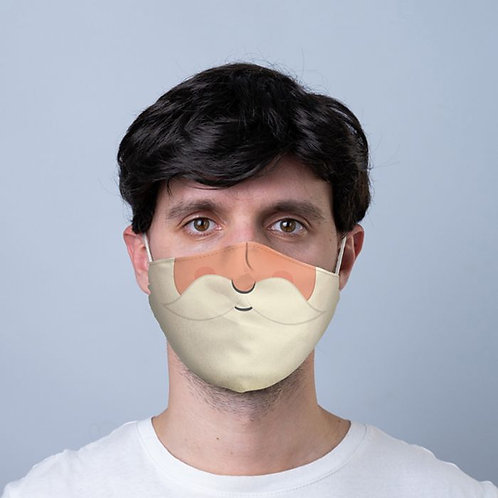 Adult Face Covering - Santa Beard