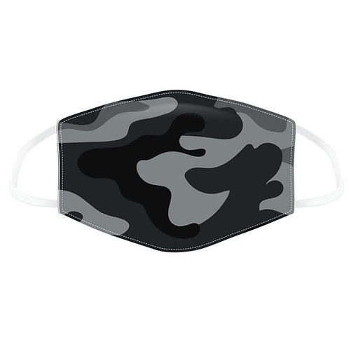 Adult Face Covering - Black Camo