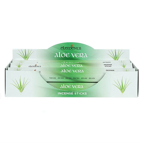 Elements Aloe Vera Incense - Pack of 6