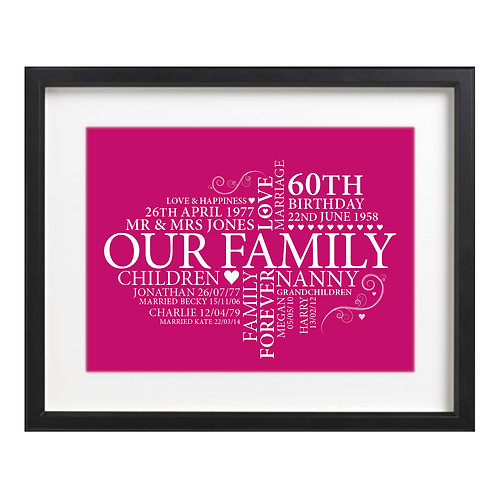 Word Art - Family or Friends