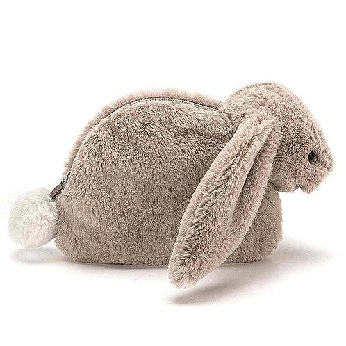 Bashful Beige Bunny Pouch