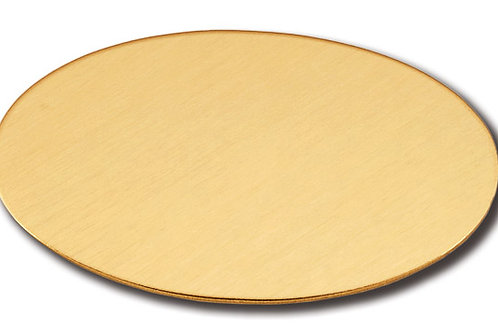 Oval Adhesive Plate - Brass 10174-20