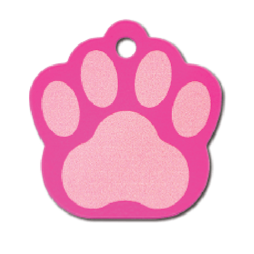 Paw Lg. Painted Pink 8440-776