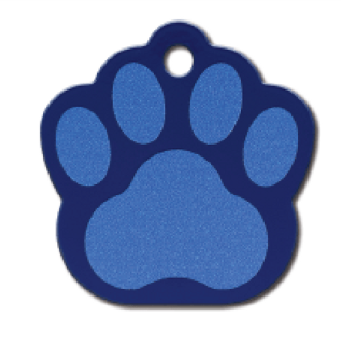 Paw Lg. Painted Blue 8440-775