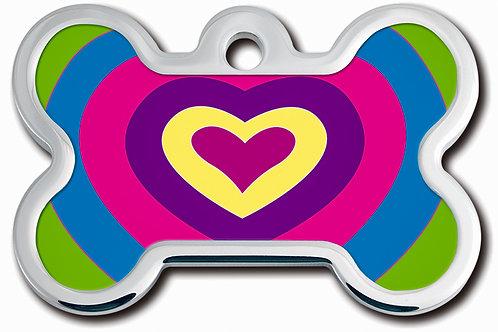 Bone Lg Lenticular Heart 7734-1228
