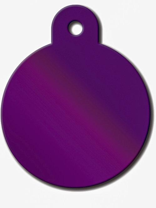 Circle Lg Shiny Purple 7325-71