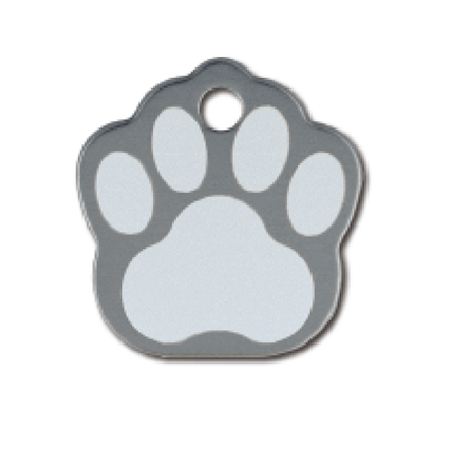 Paw Sml. Grey Etched 8442-64