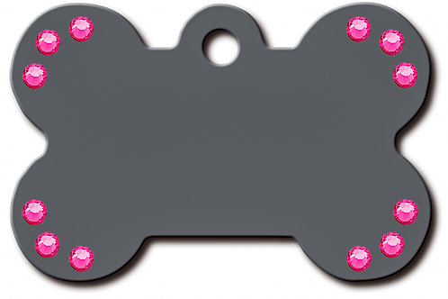 Bone Lg Grey/Pink Stones 7324-64-348