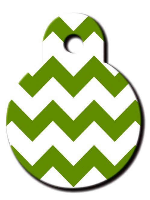 Circle Sml Chevron Green & White 7326-1259