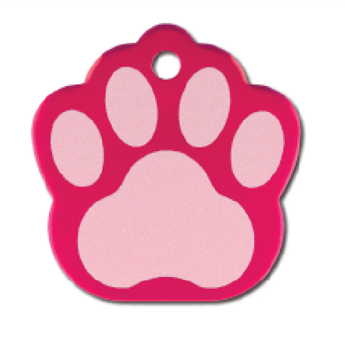 Paw Lg. Raspberry Etched 8440-25